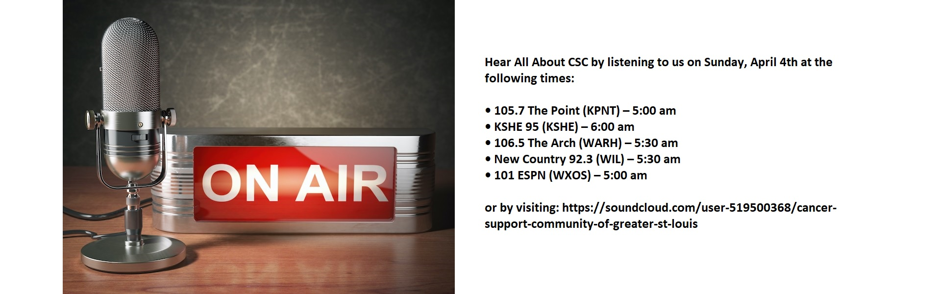 Listen to us on air!